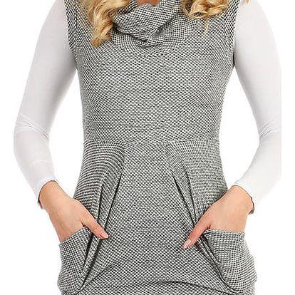 Dámské zimní šaty bez rukávů šedá