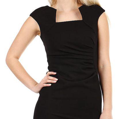 Dámské společenské pouzdrové šaty černá