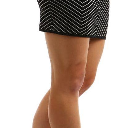 Dámská úpletová sukně -zeštíhlující efekt černá