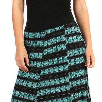 Vzorovaná dámská maxi sukně - i pro plnoštíhlé zelená