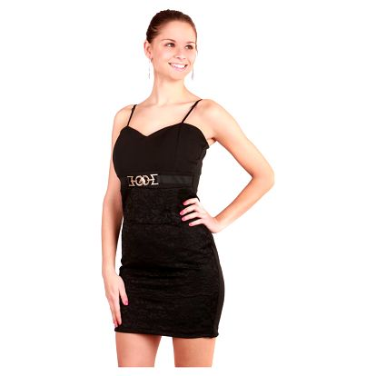Krátké černé šaty s krajkou černá