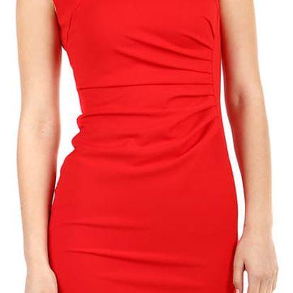 Dámské společenské pouzdrové šaty červená
