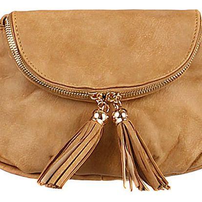 Mini kabelka přes rameno hnědá