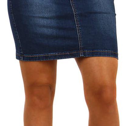 Dámská klasická džínová sukně modrá