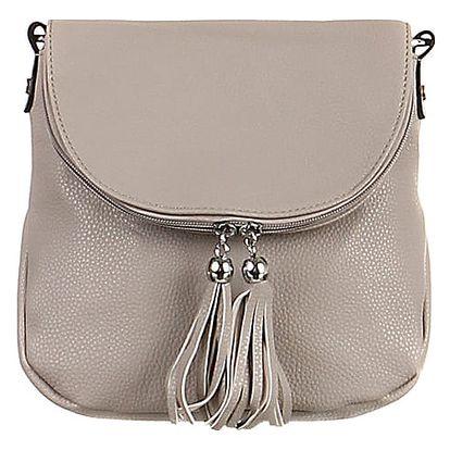 Malá kabelka se střapci šedá