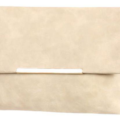 Malá koženková kabelka šedá