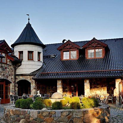 1 až 5 nocí na Zámečku Kaliště na Sázavě s polopenzí a lahví vína