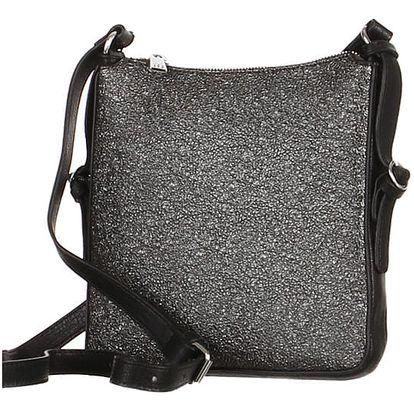 Třpytivá dámská crossbody kabelka černá