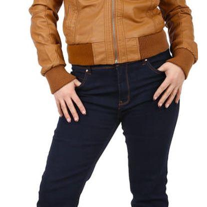 Tmavé dámské džíny- i pro plnoštíhlé modrá