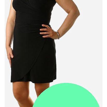 Dámské šaty se zavinovacím efektem - i pro plnoštíhlé světle zelená
