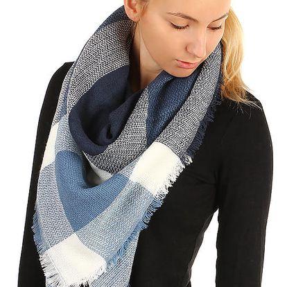 Kostkovaný šátek světle modrá