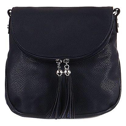 Malá kabelka se střapci modrá
