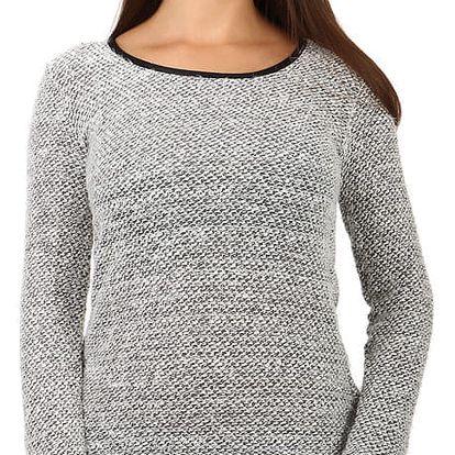 Dámský svetr s vykrojenými zády šedá