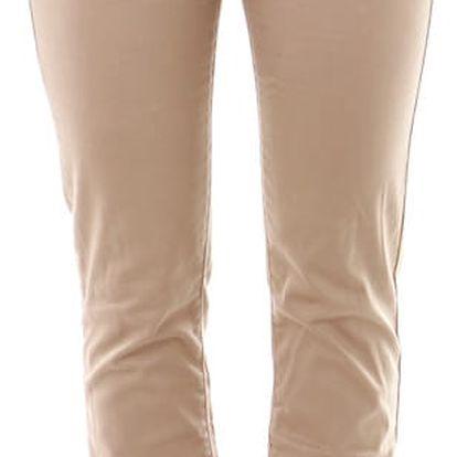 Dámské business kalhoty - béžové hnědá