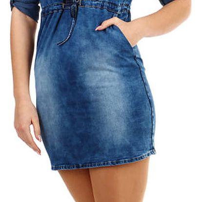 Krátké džínové šaty modrá