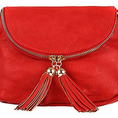 Mini kabelka přes rameno červená