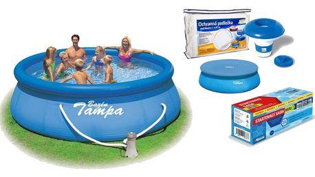 Marimex | Bazén Tampa 3,96x0,84 m s kartušovou filtrací a příslušenstvím | 19900009