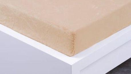 XPOSE ® Prostěradlo mikroflanel Exclusive dvoulůžko - bílá káva 140x200 cm