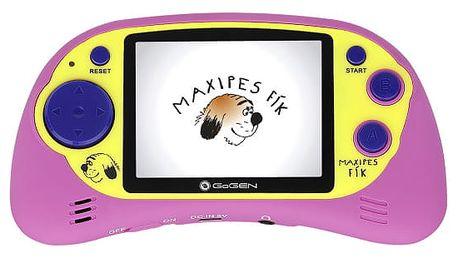 Herní konzole GoGEN Maxipes Fík MAXI HRY 150 P růžová