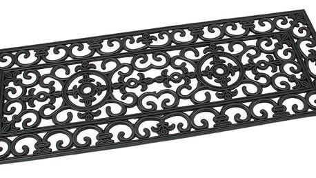 Flomat Venkovní rohožka Deco černá, 45 x 120 cm
