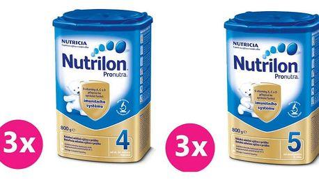 3x NUTRILON 4 ProNutra (800g) + 3x NUTRILON 5 ProNutra (800g) - kojenecké mléko