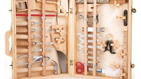Dřevěný box pro malé kutily Legler, 48 kusů