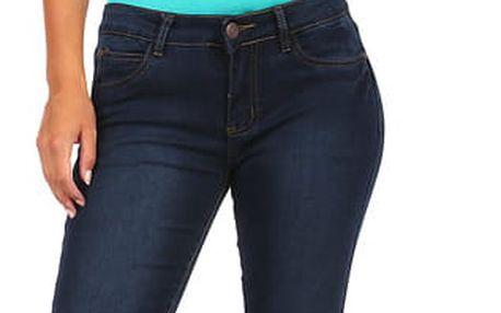 Dámské rovné džíny tmavě modrá