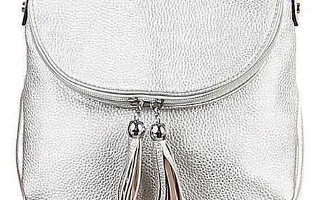 Malá kabelka se střapci stříbrná
