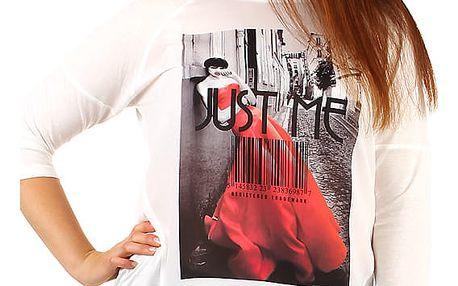 Dámské bílé triko i pro plnoštíhlé bílá