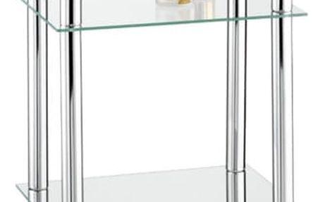 Koupelnová polička YAGO, skleněná - 4 úrovně, WENKO