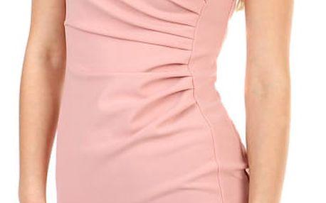 Dámské společenské pouzdrové šaty růžová