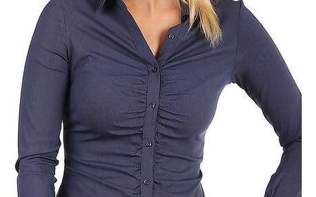 Dámská business košile - dlouhý rukáv modrá