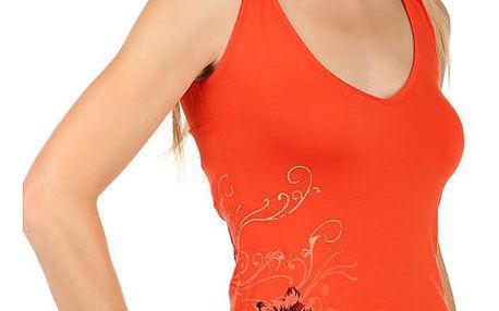 Dámské tílko s výstřihem na zádech oranžová