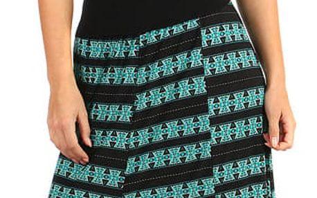 Dámská maxi sukně - i pro plnoštíhlé zelená
