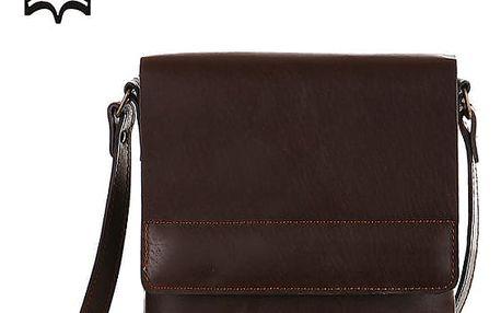 Malá kožená kabelka přes rameno - Česká výroba tmavě hnědá