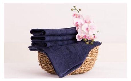 XPOSE ® Bambusový ručník SÁRA - tmavě modrá 30x50 cm 6ks