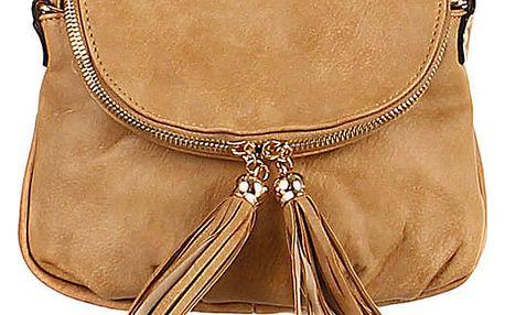 Dámská mini kabelka přes rameno hnědá