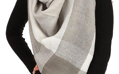 Kostkovaný šátek světle šedá