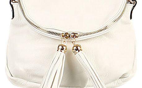 Dámská mini kabelka přes rameno bílá