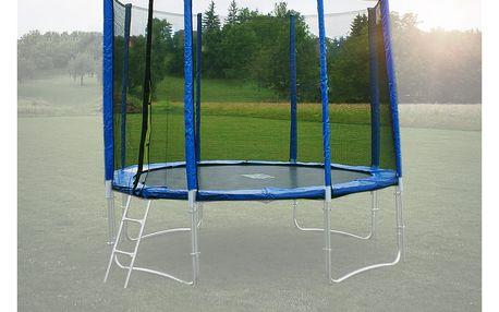 Ochranná síť na trampolínu 366 cm - PVC - na 8 trubek- modrá