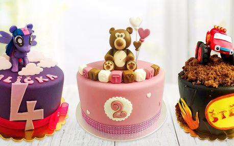 Dětský dort: světlý či tmavý korpus, postavička