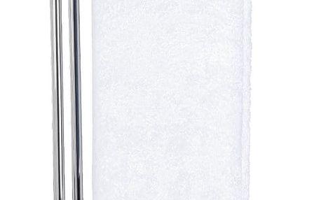 Koupelnový stojanový věšák na ručníky NOBLE WHITE - 2-ramenný, chromovaná ocel,WENKO