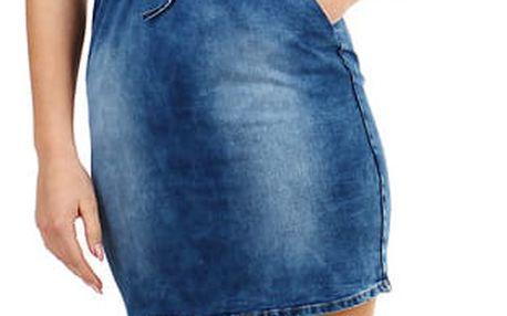 Dámské džínové šaty modrá