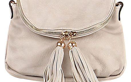 Dámská mini kabelka přes rameno šedá