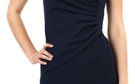 Dámské společenské pouzdrové šaty tmavě modrá