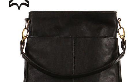 Velká kožená kabelka - Česká výroba černá