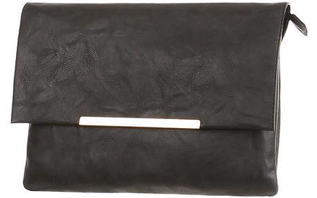Malá koženková kabelka černá
