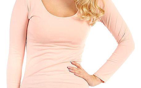 Dámské přiléhavé šaty světle růžová