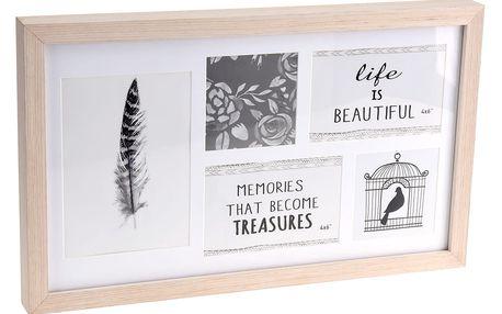 Fotorámeček, pro 5 fotek, 45x27 cm Home Styling Collection