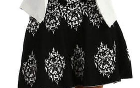 Dámská áčková sukně z úpletu černá